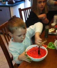 Will digs into the frosting