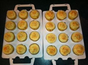 2 dozen mimosa cupcakes