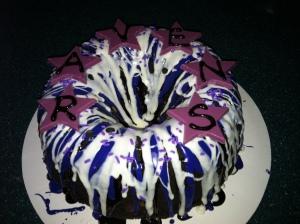 Ravens tri-color cake