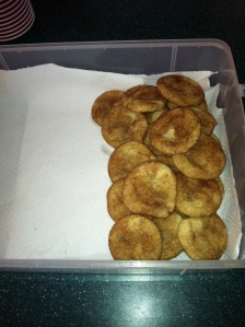 Snickerdoodles with rolos