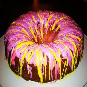 Easter rainbow cake