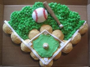 The inspiration cupcake cake