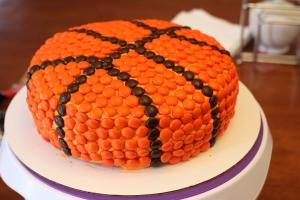 M&M basketball cake