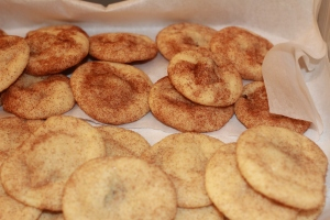 Rolo stuffed snickerdoodle cookies