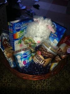 An Easter basket full of baking goodies