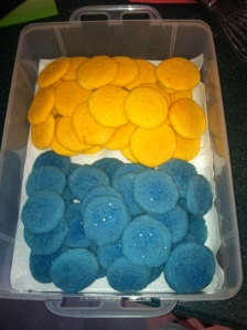 Jell-O Cookies: Lemon and Berry Blue