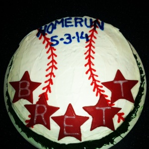 Brett's Home Run Cake