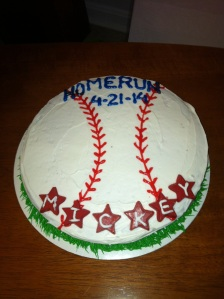 Mickey's chocolate home run cake