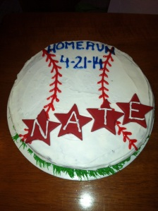 Nate's home run cake
