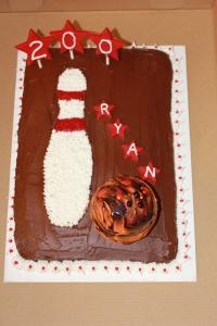Ryan's 200 game cake
