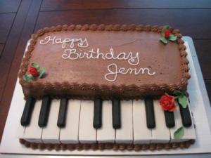 Piano inspiration cake