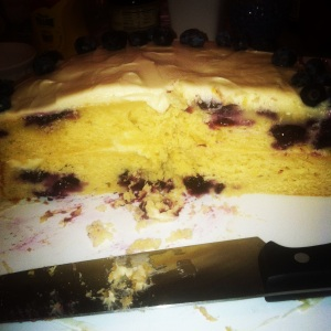 Lemon blueberry cake inside 3