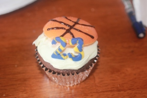 Ty's cupcake with his uniform number