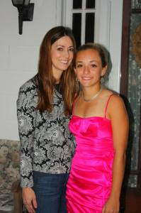 My friend Krista and her daughter on Homecoming night