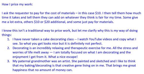 How I price my work