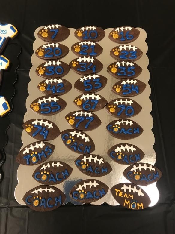 Varsity Football Cookies